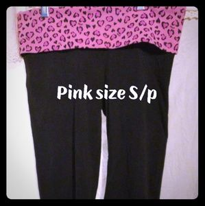 Pink capris leggings